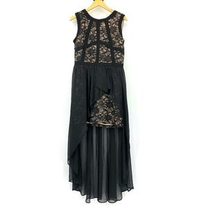 Nightway Lace Formal Evening Gown Mini Overlay